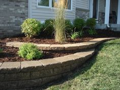 low maintenance landscaping shrubs 1590312814 – # – Garden Landscaping ideas - How to Make Gardening Landscaping Shrubs, Landscaping Retaining Walls, Outdoor Landscaping, Front Yard Landscaping, Landscaping Ideas, Landscaping Blocks, Minnesota Landscaping, Retaining Wall Patio, Small Retaining Wall