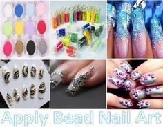 How to Apply Bead Nail Art
