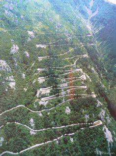 Switchbacks Over Kotor This shows the series of hairpin bends on the road from Kotor to Cetinje. It really is a series of tight bends to climb a sheer face of a mountain. An experience to drive,