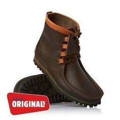 Clarks Originals Wallabee Way Mens Boots   Dark Green Leather