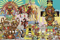 Intricate pop art by Keiichi Tanaachi Keiichi Tanaami, Modern Art Pictures, James Rosenquist, Claes Oldenburg, Birth And Death, Jasper Johns, Japanese Modern, Roy Lichtenstein, First Art