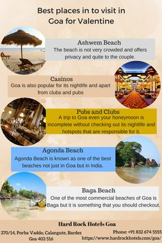 Best places in to visit in Goa for Valentine. Ashwem Beach, Casinos, Pubs and Clubs, Agonda Beach, Baga Beach.