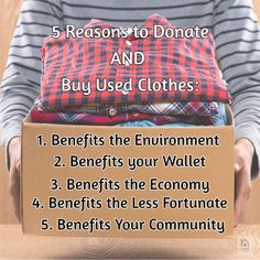 Americans send million tons of clothing to landfills every year. Donating items such as clothing, also creates an opportunity for you! You're not just donating, you are reusing and recycling. How To Find Out, To Go, No Way, Thrifting, Opportunity, Recycling, Clothing, Projects, Blog