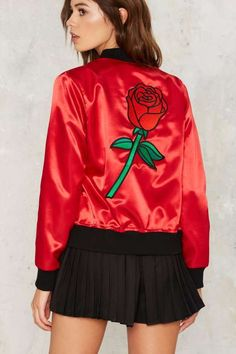 Big Bud Press Highs and Rose Bomber Jacket - Fall Essentials
