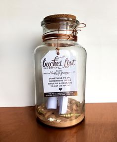 NEW IDEA! Bucket List in a Bottle tag- a unique alternative to a guest book by aLITTLEsmallTALK on Etsy