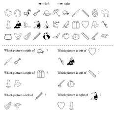 Using series of symbols to practice left/right descriptive skills.