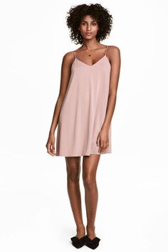 Платье-комбинация - Розовая пудра - Женщины   H&M RU 1