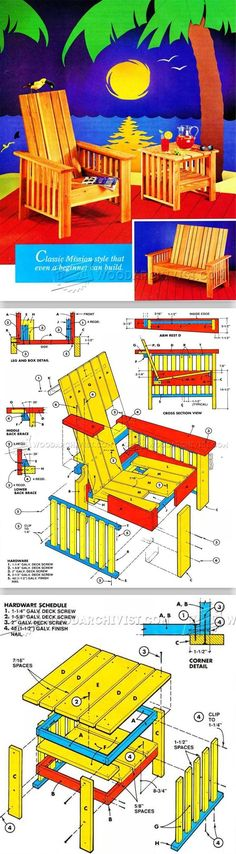 Outdoor Furniture Plans - Outdoor Furniture Plans & Projects | WoodArchivist.com
