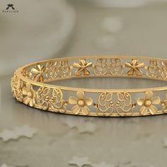 faithful ganesha floret bangle buy gold bangle online in india Gold Bangles Design, Gold Jewellery Design, Gold Jewelry, Jewelry Necklaces, Fine Jewelry, Designer Bangles, Diamond Bracelets, Handmade Jewellery, Silver Bracelets