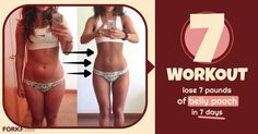 """This """"7 Workout"""", followed along with a strict diet will help you lose belly pooch starting from the first week of the program. Learn more!"""