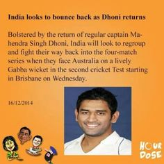India looks to bounce back as Dhoni returns   #India #Dhoni #cricket