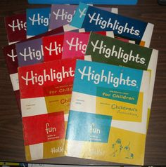 Vintage Lot of 12 Highlights Monthly Book For Children Fun With A Purpose 1970's $4.99