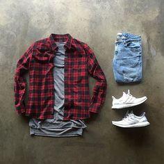 Camisa Xadrez. Macho Moda - Blog de Moda Masculina: CAMISA XADREZ MASCULINA: Como Usar e Onde Encontrar? Como usar Camisa Xadrez, Dicas para usar Camisa Xadrez, Camisa Xadrez Vermelha, Adidas Ultra Boost Branco, Calça Jeans