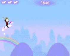 Mikey Way riding the Robot Unicorn! lol  Click on it!!!