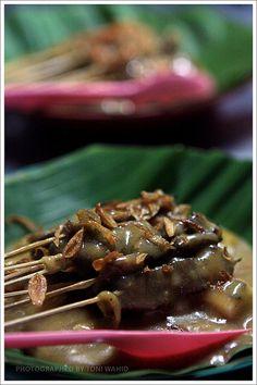 Padangnese Satay, West Sumatra, Indonesia.