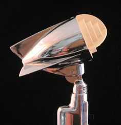 Chrome Astatic 600 microphone, very cool but a little unfriendly for harp!