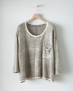 Printed Stripe Sweater