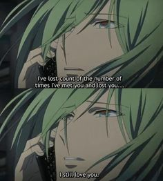 I can't watch Amnesia's Ukyo-episodes without crying♥ I love Ukyo too much :c