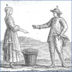 Fishing proprietors, 18th century  Detail of an image from Traité général des pesches, by Duhamel du Monceau, 1772  (National Library of Canada)