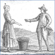 Fishing proprietors, 18th century  Detail of an image from Traité général des pesches, by Duhamel du Monceau, 1772  (National Library of Canada)