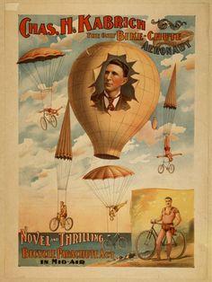 The original bike-chute aeronaut  Charles Kabrich 1896  Library of Congress