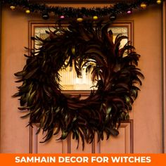 How to decorate your home for Samhain. How to throw a Samhain party. Samhain (Halloween) has a much deeper significance than dressing up or trick-or-treating. How to make Samhain decorations. Samhain wreaths for your front door. Outdoor Samhain decorations. Indoor Samhain decorations. How to decorate for Samhain indoors. How to mix fall and Samhain decor. Decorate your door for Samhain. Apartment decorations. Pagan altar decorations. Halloween altar decor.