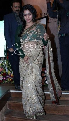 Kajol in Sabyasachi saree at HT Most Stylish Awards 2013.