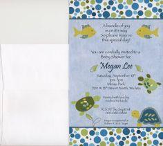 Turtle Reef Baby Shower Invitation