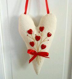 Felt heart with heart buttons.