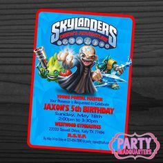 PRINTABLE INVITATION  Skylanders Trap Team  by PartyHeadquarters, $10.99