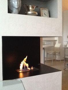 caminetti clam d salone con vetro : ... controparete di mattoncini. WI-FIRE Arredamento salone Pinterest
