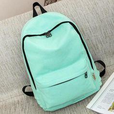 Buy Suqi Simple Colour Canvas Women Backpack Students School Bag For Women  Girl Rucksack Mochila Escolar Women Backpack  20.00- ICON2 cb9b64c508c