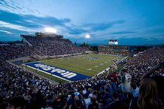 Utah State Aggies Football - aerial of Romney Stadium