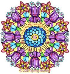 Fun Flower Mandala Coloring Page by Thaneeya McArdle