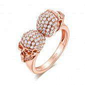 Jeulia Romantic Rose Gold-Tone Cushion Cut Created Ruby Mermaid Ring 6.56CT TW - Jeulia Jewelry