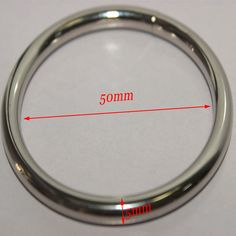 Round Metal Cock Ring Penis Ring Ball Stretcher Inner-Diameter 50mm Sex Aid Toys LL158