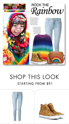 """""""Somewhere over the rainbow"""" by petulia-maker ❤ liked on Polyvore featuring Frame Denim, Converse, Anya Hindmarch, women's clothing, women's fashion, women, female, woman, misses and juniors"""