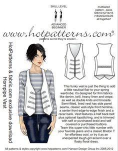 Free Sewing Patterns vest