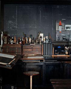 An artisans workspace