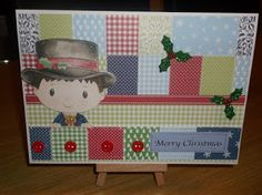 DREAM CARDS by SHARON. Kanban Patchwork Pals paper craft collection - foiled & die cut toppers with co-ordinating card. Christmas Cards, Merry Christmas, Toy Chest, Card Making, Paper Crafts, Xmas Ideas, How To Make, Inspiration, Collection