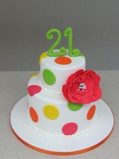 21st Birthday polka dot!