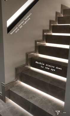 Marble Stairs, Stair Lighting, Architecture Details, Room Inspiration, New Homes, House, Design, Home Decor, Stair Case