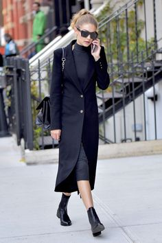 See the model's most stylish off-duty looks.