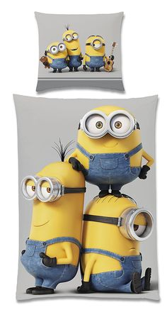 Lovely Minions Kinderzimmer Despicable Me Wendebettwaesche Minions FRIENDS Prozent Baumwolle Renforce xcm