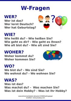 W-Fragen mal einfach Wall poster as a learning aid for the classroom. For German as a foreign language and DaZ level German Study German, Learn German, German Grammar, German Words, German Language Learning, Language Study, Cutting Activities For Kids, Deutsch Language, Germany Language