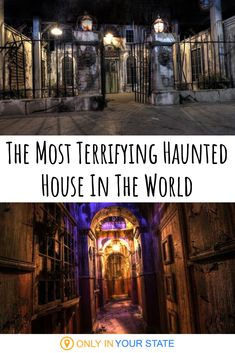 So much more than a haunted house, this is a bone-chilling immersive experience. It offers escape rooms, ax throwing, and more. Haunted Houses In America, Best Haunted Houses, Scary Haunted House, Creepy Houses, Halloween Haunted Houses, Most Haunted Places, Spooky Places, Abandoned Places, Abandoned Asylums