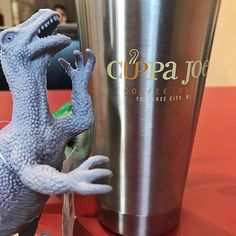 Cuppa Joe travel tumblers are awesome! Get a free fill up of your choice of coffee drink when you buy one! #welovedinosaurs
