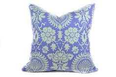 Floral purple pillow cover - Damask pillow in light purple, periwinkle, light blue - Flower scroll boho pillow - throw, toss, pillow by INKandLINENco on Etsy https://www.etsy.com/ca/listing/251165621/floral-purple-pillow-cover-damask-pillow