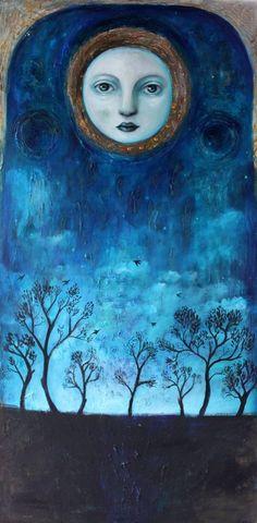 Mostly, but not limited to, nature-themed art and illustration. Art And Illustration, Illustrations, Éphémères Vintage, Sun Moon Stars, Good Night Moon, Moon Magic, Beautiful Moon, Moon Art, Pics Art