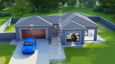 3 Bedroom House Plans - My Building Plans South Africa 5 Bedroom House Plans, Floor Plan 4 Bedroom, My House Plans, My Building, Building Plans, Building Design, 3 Storey House Design, Two Storey House, Village House Design